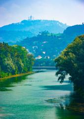 Po River and Superga hill