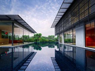 3d render modern building exterior