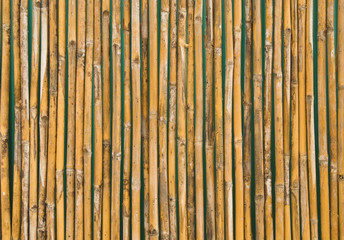 background of decorative old bamboo wood  fence wall texture