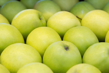 green apples close up shop