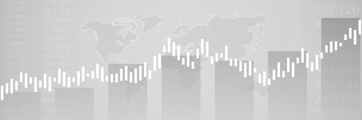 Business candle stick graph chart of stock market investment trading on background design. Stock market graph . Vector illustration