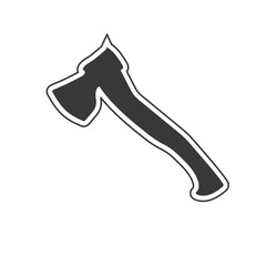 Axe flat icon isolated on white background. Vector illustration.
