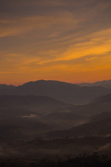 Fotobehang Heuvel Sunrise