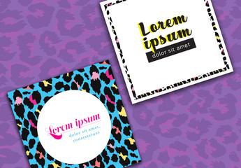 Social Media Post Layouts with Animal Prints
