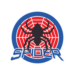spider logo for your business, vector illustration