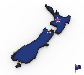 New Zealand high detailed 3D map