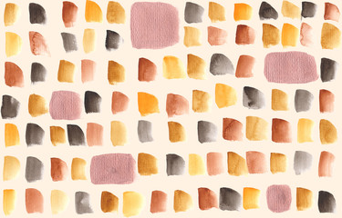 seamless hand painted watercolor autumn copper dots pattern