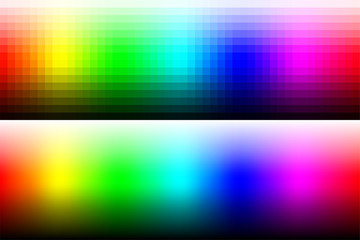 Color palette RGB. Vector illustration