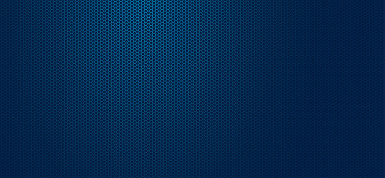 Geometric polygons background, blue abstract hexagons wallpaper, vector illustration
