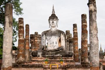 Old Buddha Statue in Sukhothai Thailand - Asia