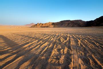 Fotobehang Droogte View on desert