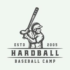 Vintage baseball sport logo, emblem, badge, mark, label.