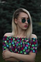 girl on a dark background