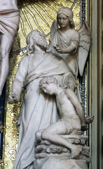 Abraham Sacrificing Isaac, altar of the Holy Cross in Zagreb cathedral dedicated to the Assumption of Mary