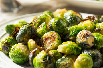 Aluminium Prints Brussels Healthy Roasted Brussel Sprouts