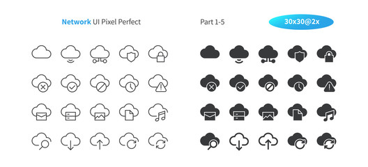 Network UI Pixel Perfect Well-crafted Vector Thin Line And Solid Icons 30 2x Grid for Web Graphics and Apps. Simple Minimal Pictogram Part 1-5