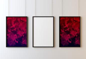 Maquetas de marcos de galería colgantes