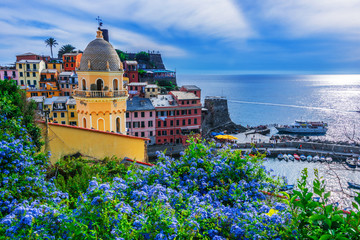Picturesque town of Vernazza, Liguria, Italy Wall mural