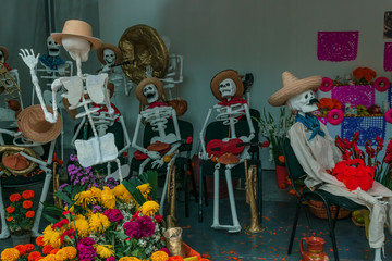 Traditional day of the dead altar