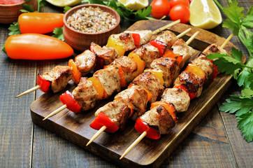 Fried chicken kebabs