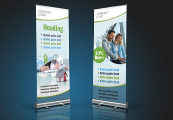 Light Blue Rollup Banner Layout