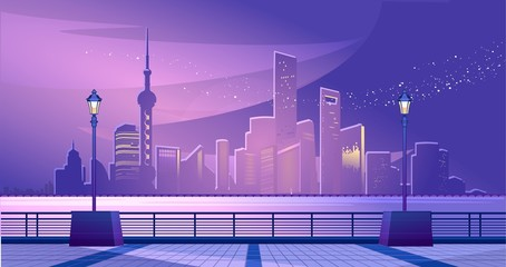 Shanghai city embankment