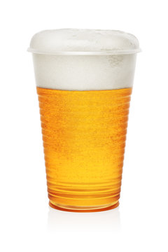 Beer in a plastic cup
