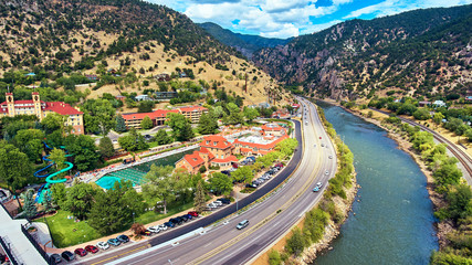 Aerial Hot Springs Glenwood Springs Worlds Largest Rocky Mountains Wall mural