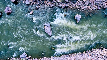 Colorado River Rapids rocks Fotomurales
