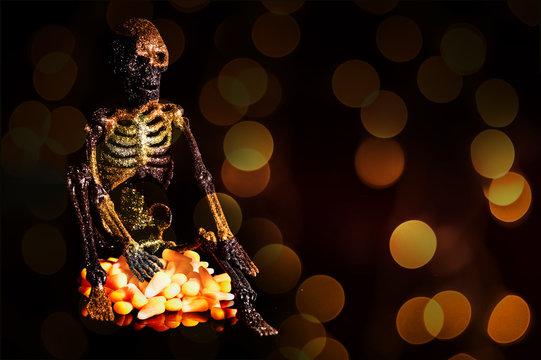Halloween skelton
