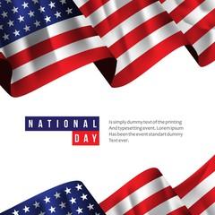 USA National Day Vector Template Design Illustration