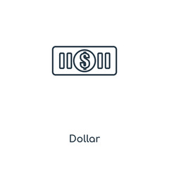 Dollar concept line icon. Linear Dollar concept outline symbol design. This simple element illustration can be used for web and mobile UI/UX.