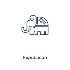 Republican concept line icon. Linear Republican concept outline symbol design. This simple element illustration can be used for web and mobile UI/UX.