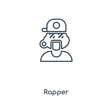 rapper icon vector