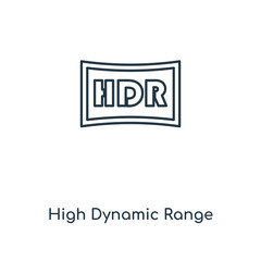high dynamic range imaging icon vector
