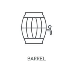 Barrel linear icon. Barrel concept stroke symbol design. Thin graphic elements vector illustration, outline pattern on a white background, eps 10.