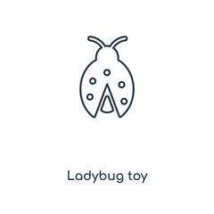 ladybug toy icon vector