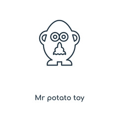 mr potato toy icon vector