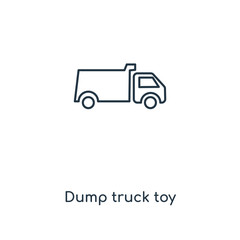 dump truck toy icon vector