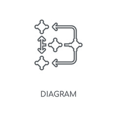 Diagram linear icon. Diagram concept stroke symbol design. Thin graphic elements vector illustration, outline pattern on a white background, eps 10.