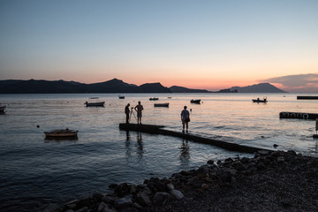 photographing the sunset, Greece