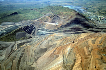 Diamond mine in the Kimberley region of Western Australia near the Ord river.