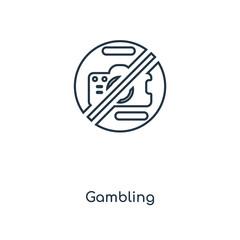 gambling icon vector