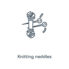 knitting neddles icon vector