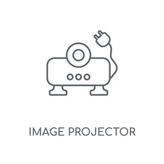 Image projector linear icon. Image projector concept stroke symbol design. Thin graphic elements vector illustration, outline pattern on a white background, eps 10.