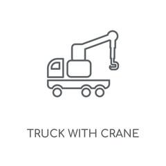 truck with crane icon
