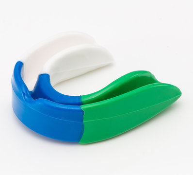 protection for the teeth in the martial arts on a white background. sportswear