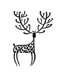 Ornate deer, sketch for your design