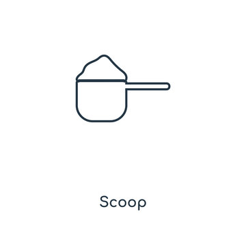 scoop icon vector