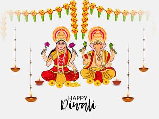 Indian Light Festival of Diwali Celebration.